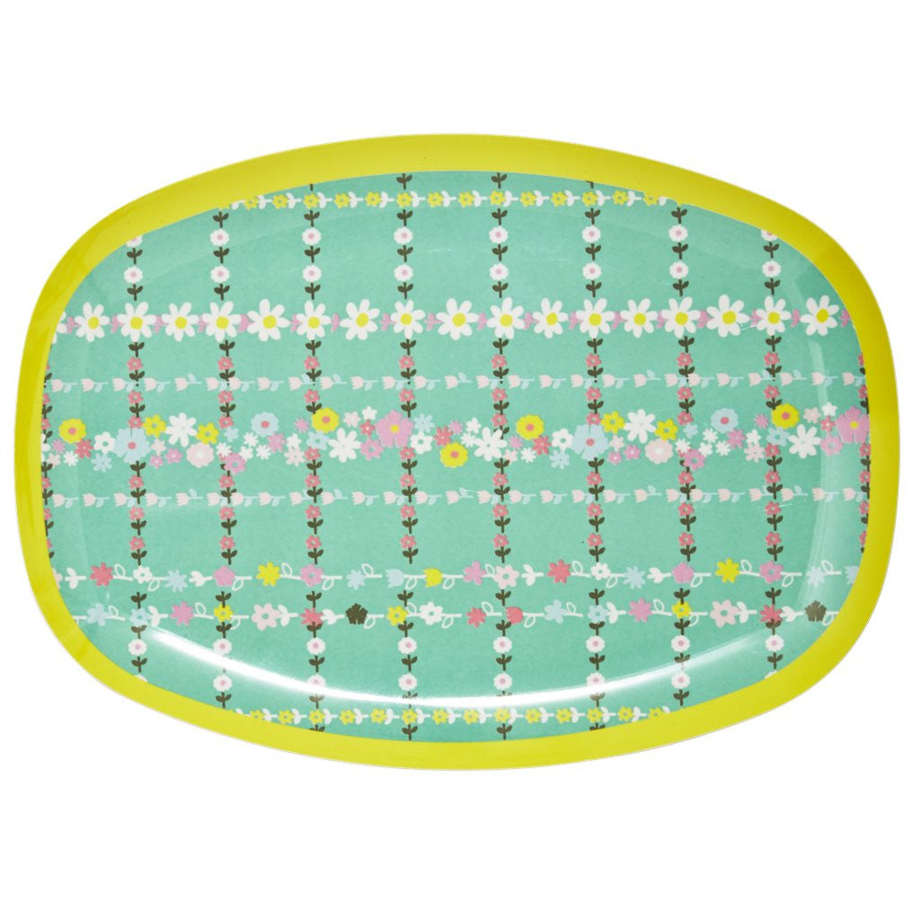 Retro Flower Print Melamine Set
