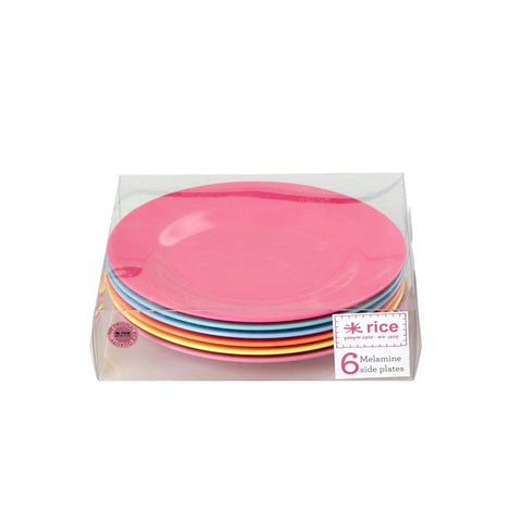 Small Melamine Plates in Neon Colors (6-pack)