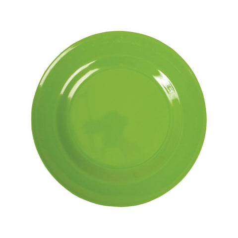 Small Round Melamine Plate in Shades of Green