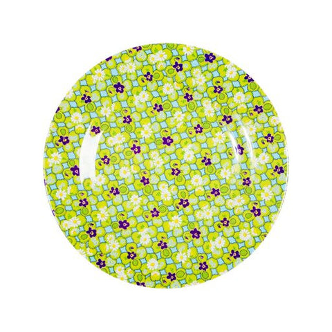 Toddler Small Round Melamine Plate in Clover Print