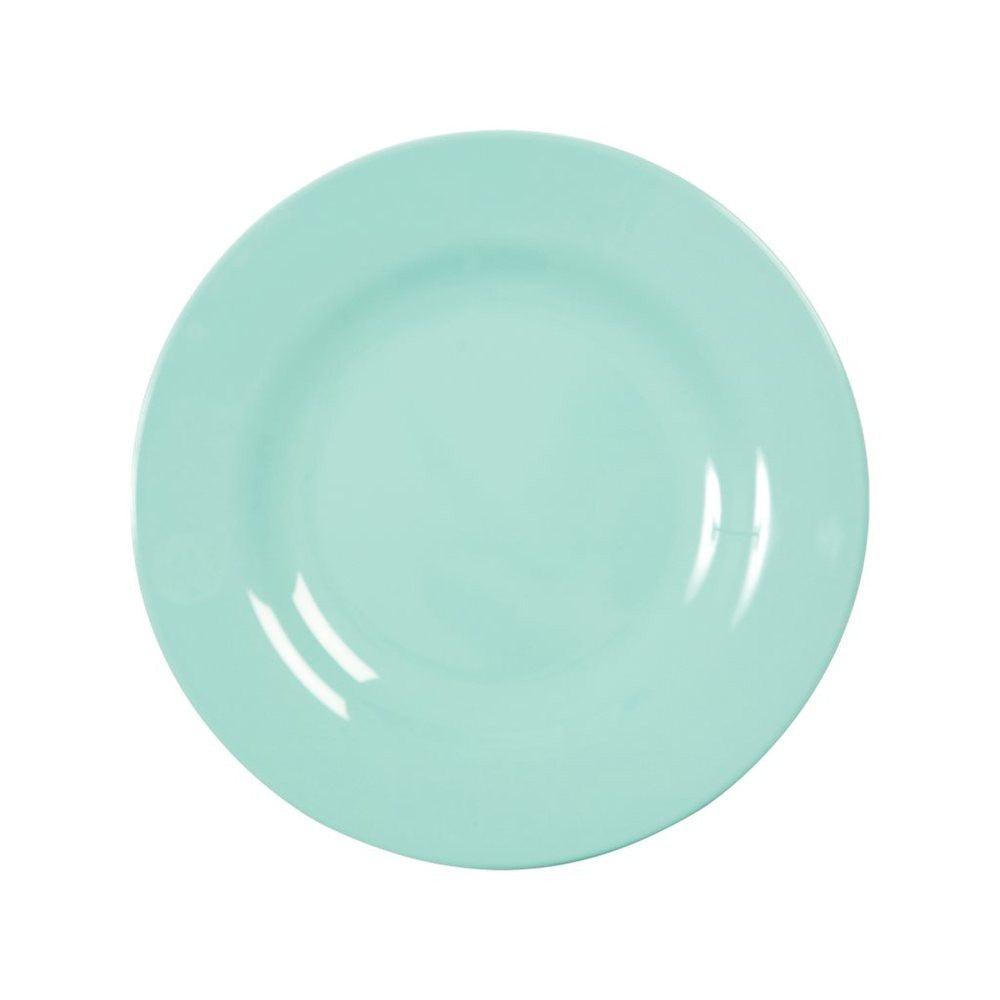 Small Round Melamine Plate in Mint