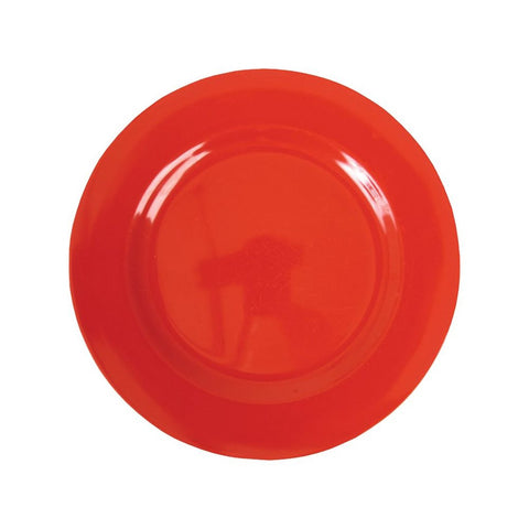 Small Round Melamine Plate in Red