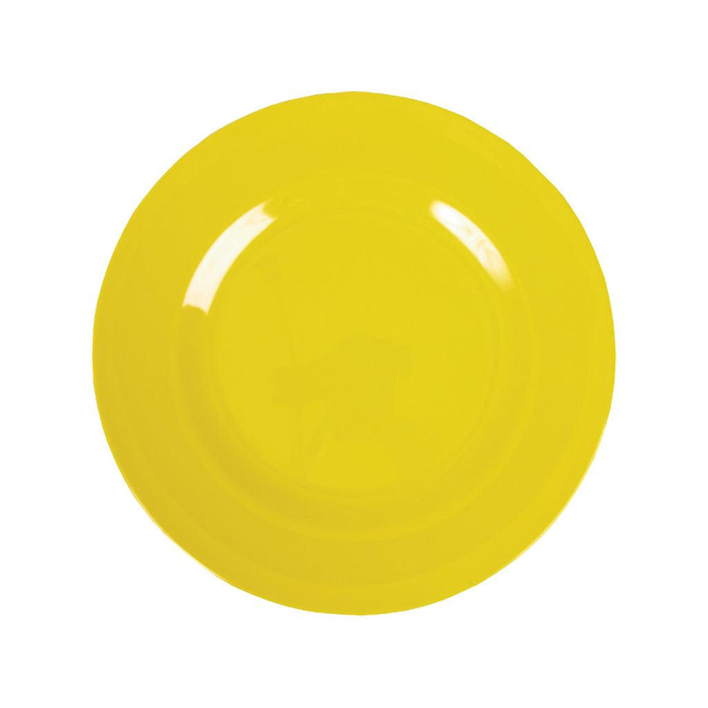Small Round Melamine Plate in Yellow