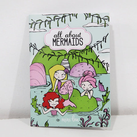 All About Mermaids Mini Coloring Book