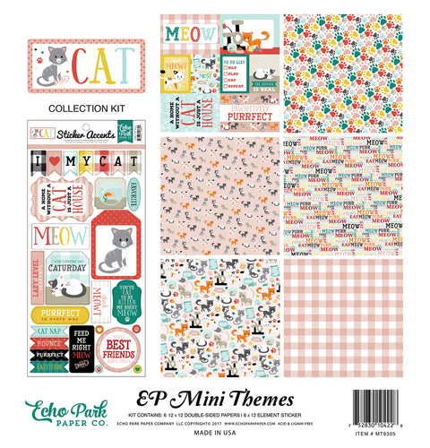 Party Paper Placemat Kitty Cat Collection Kit