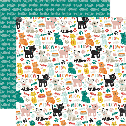 Party Paper Placemat in Kitty Cat