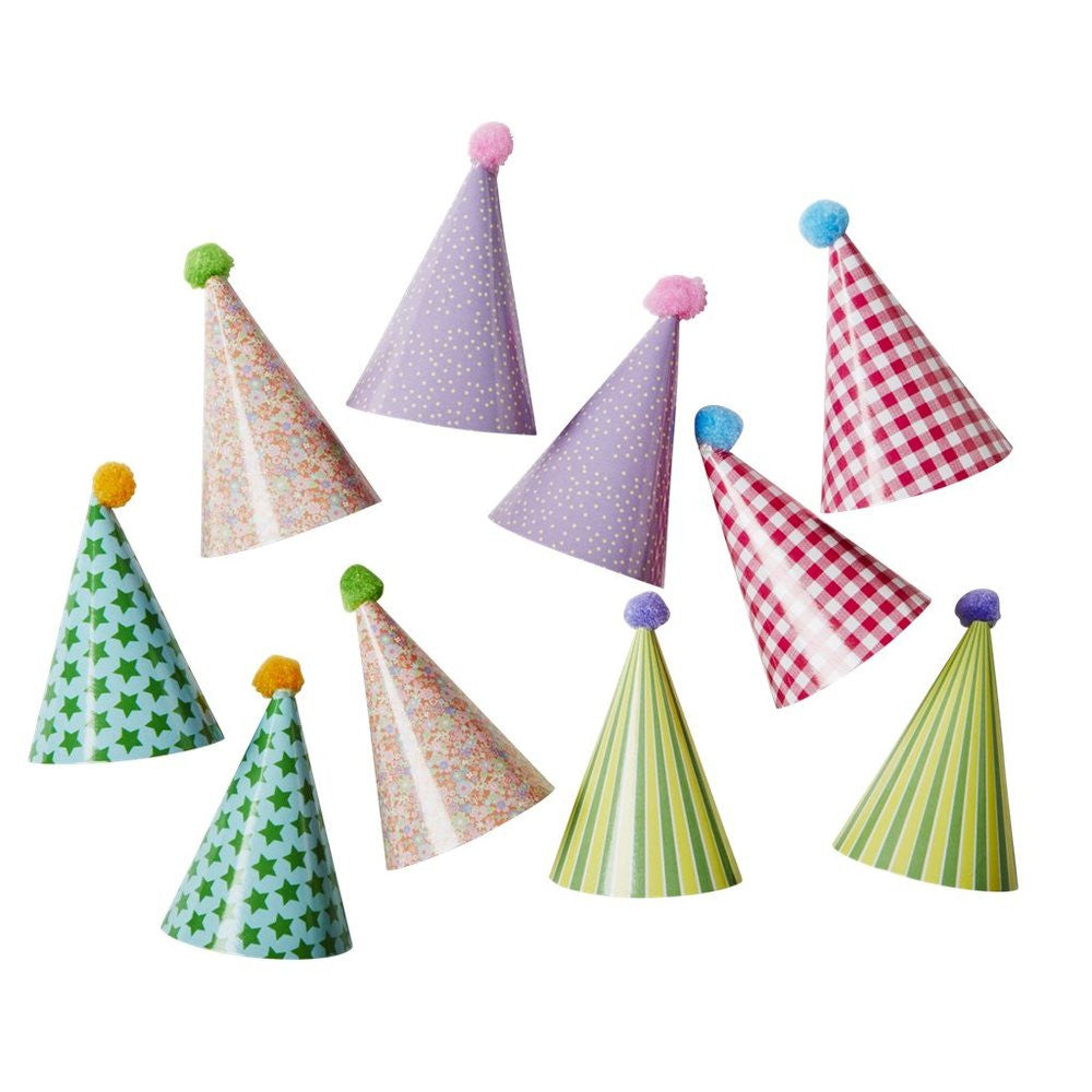 Mini Paper Party Hats Cupcake Decor