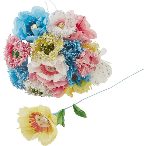 Beautiful Tissue Paper Flowers in Assorted Colors and Designs (6-pack)