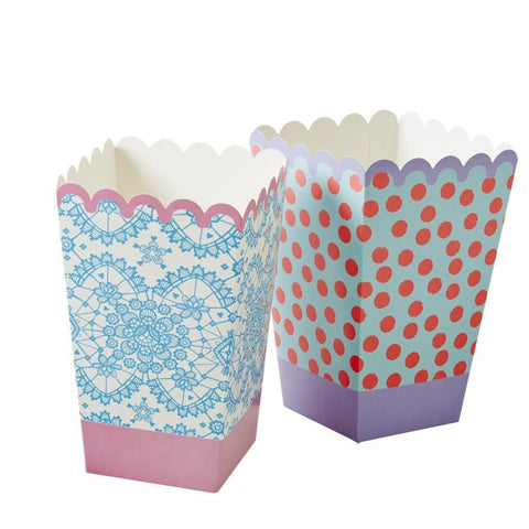Popcorn Paper Buckets in Assorted Prints
