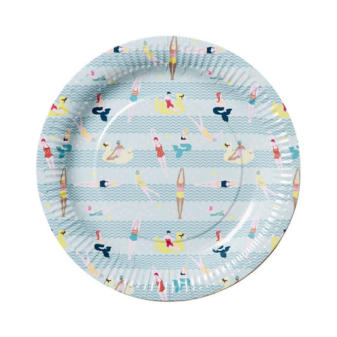 Mermaid and Swimster Paper Plates (Large)