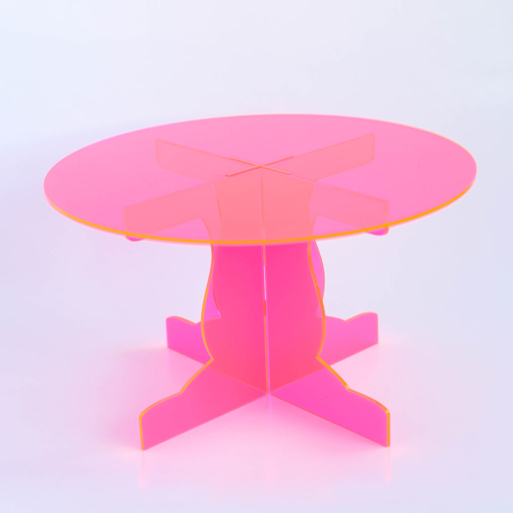 Acrylic Cake Stand in Neon Pink