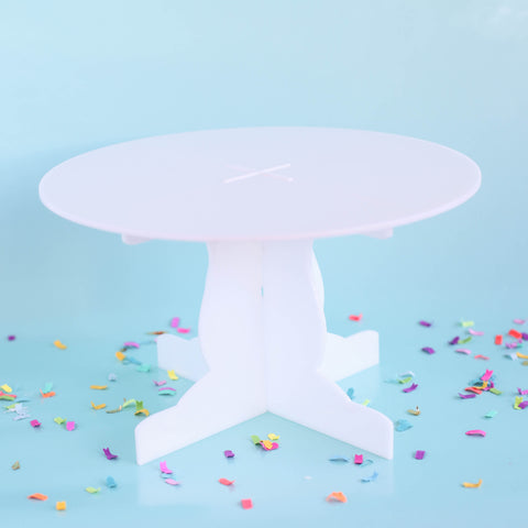 Acrylic Cake Stand in White
