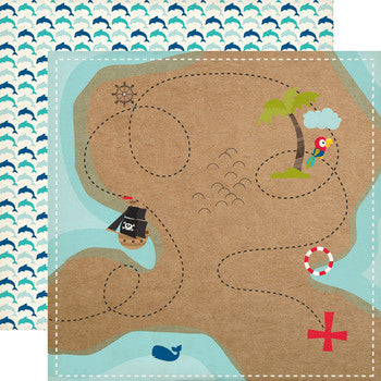 Party Paper Placemat in Pirate Map