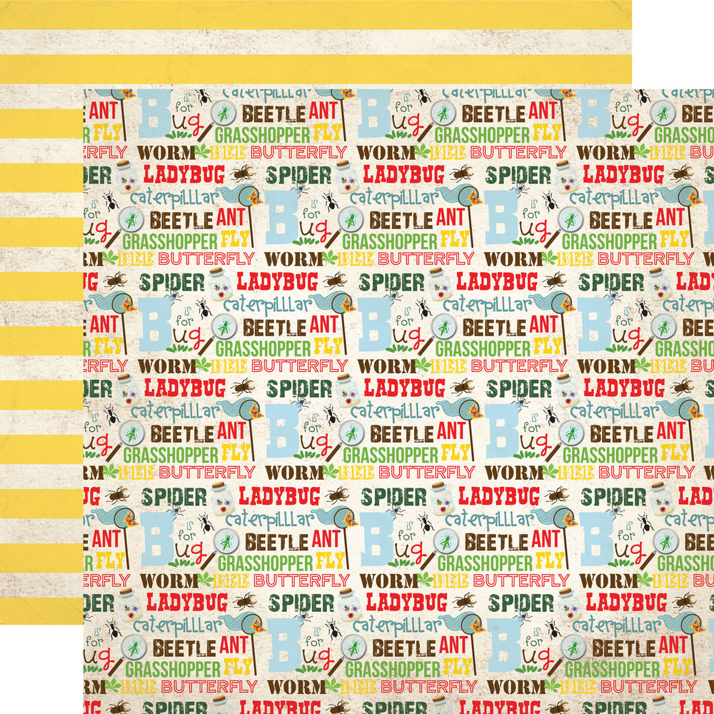 Party Paper Placemat in Bug Words Print