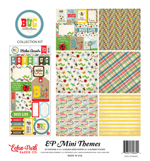 Party Paper Placemat Bug Collection Kit