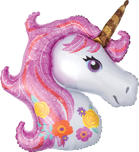 Magical Unicorn Head Mylar Balloon