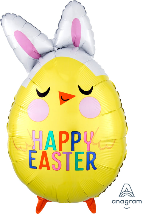 Easter Chick with Bunny Ears Mylar Balloon