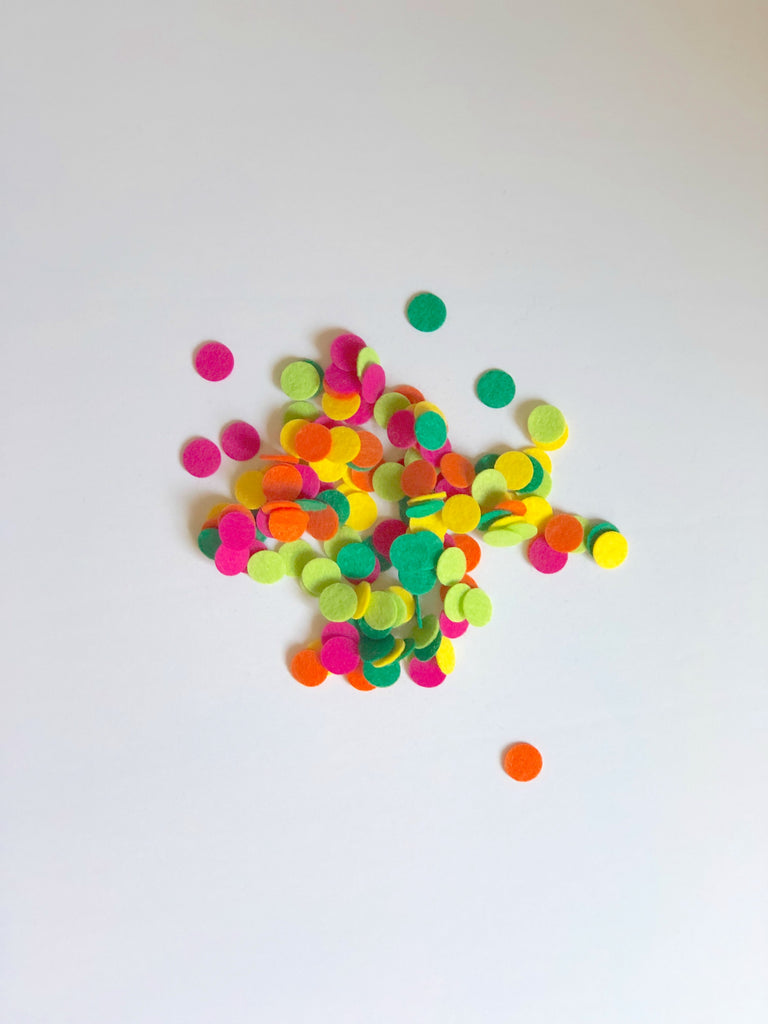 Handmade Felt Confetti by Sugar Moon Bloom