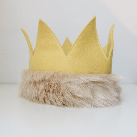 Felt Crown with Fur Trim