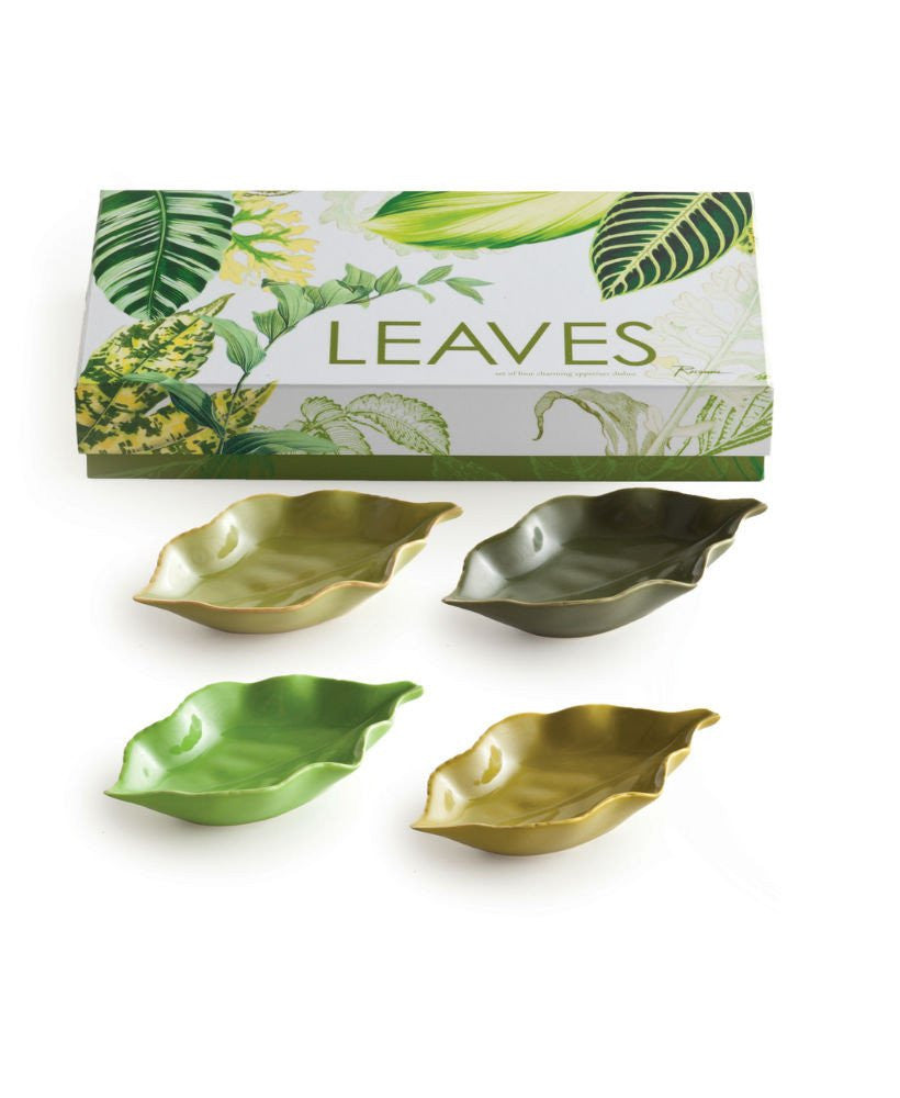 Porcelain Mini Leaf Bowls