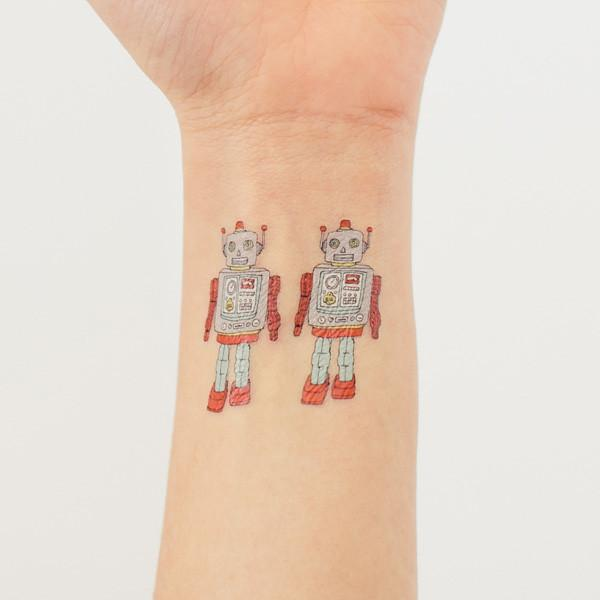 Robot Tattoos (2-pack)