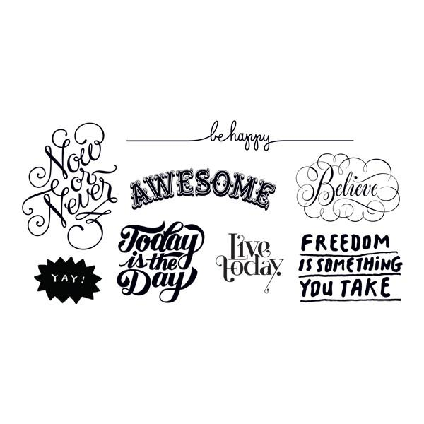 Inspirational Tattoos Be Happy Party Packet (8-pack)