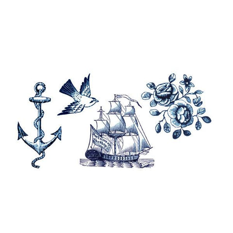 Nautical Tattoos Ocean Party Packet (8-pack)