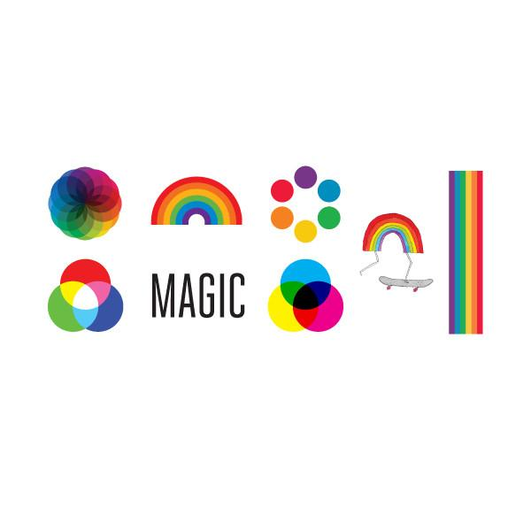 Rainbow Tattoos Magic Party Packet (8-pack)