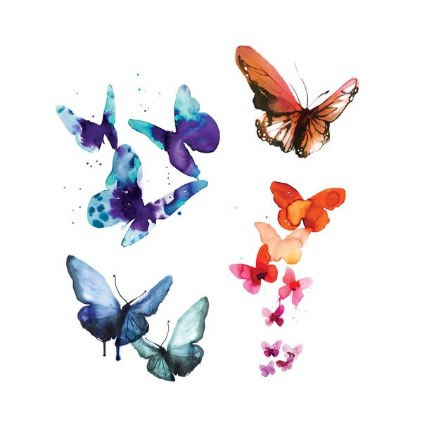 Butterfly Tattoos Watercolor Party Packet (8-pack)