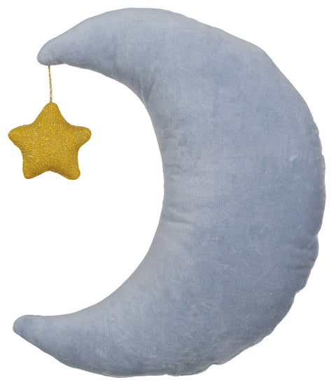 velvet moon and star pillow