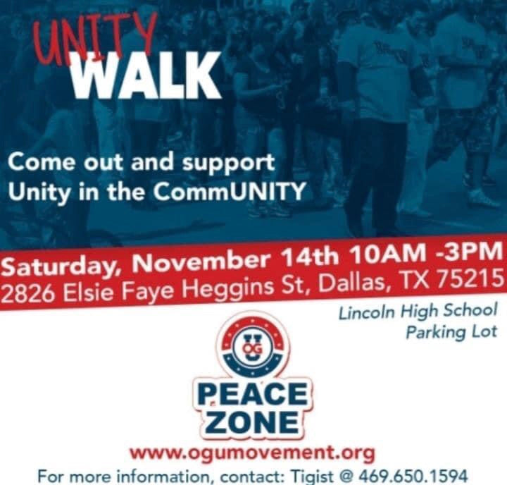 #UNITYWALK WILL YOU BE ATTENDING???