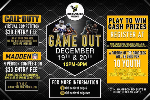 IT'S HERE‼️🐝 BEE SQUARED PRESENTS - GAME OUT🎮🔥[CALL OF DUTY + MADDEN COMPETITION🏆]