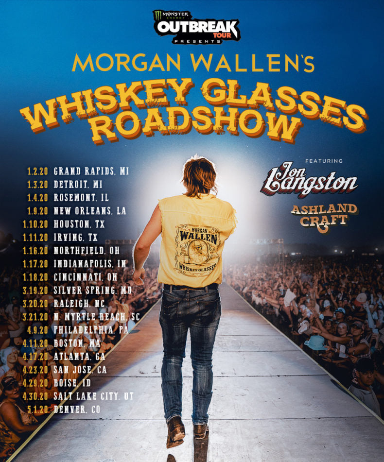 MORGAN WALLEN SURGES INTO 2020 HEADLINING TOUR : January 11 | Irving, TX – Toyota Music Factory