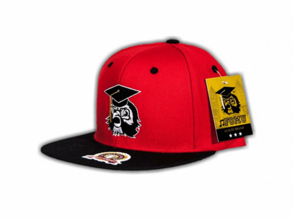 Red F.O.M.U. Snapback w/ Black Bill