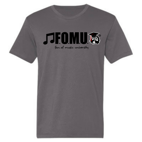 Lightweight F.O.M.U. Fashion Short Sleeve T-Shirt (Smoke W/ Black letters)