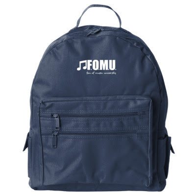 F.O.M.U. Campus BACKPACK (NAVY with WHITE FOMU LETTERS)