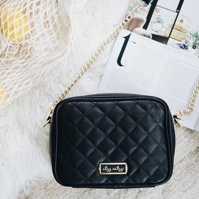 Double Take Crossbody in Black with vegan leather