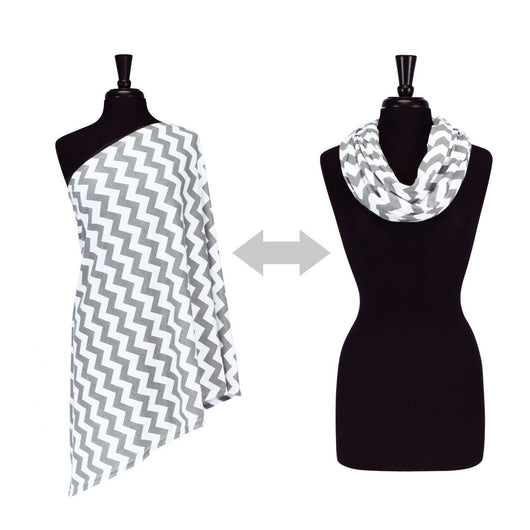 Nursing Happens Infinity Breastfeeding Scarf Nursing Scarf Itzy Ritzy® C. Grey Chevron