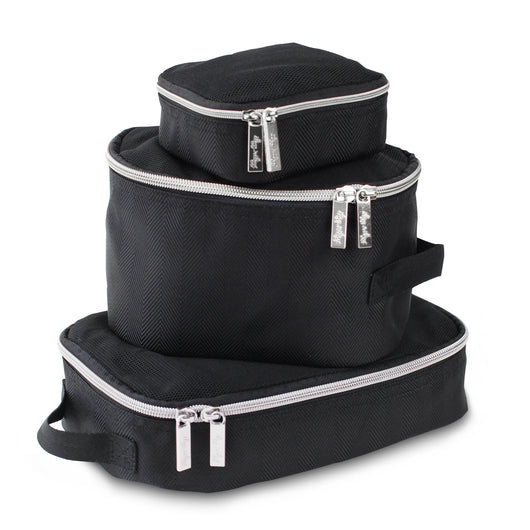 Pack Like A Boss Packing Cubes Packing Cubes Itzy Ritzy Black & Silver