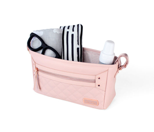 PINK Stroller Cup Holder Organizer for BOB Baby Child Jogger Wipes Diaper Phone