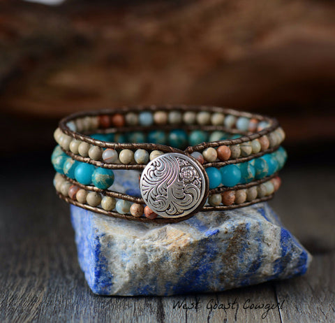 Leather-Handmade-Bead-Bracelet