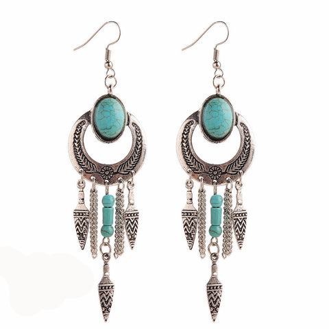 Turquoise-Charms-Drop-Earrings-Bohemian