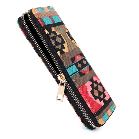 tribal-inspired fabric wallet