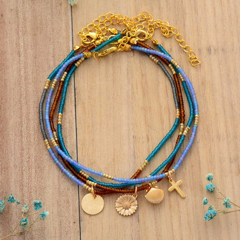 Seed bead bracelets for layering