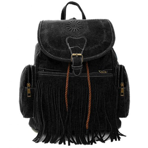 Fringe-Leather-Backpack