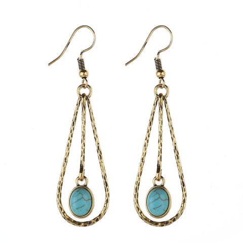 Turquoise-Silver-Drop-Earrings