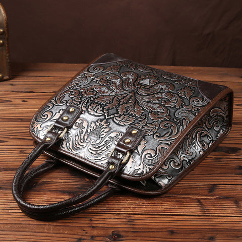 Leather-Floral-Design-Handbag