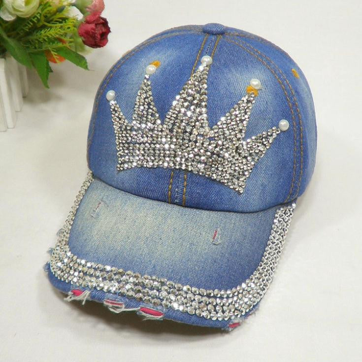 Princess Denim Baseball Cap