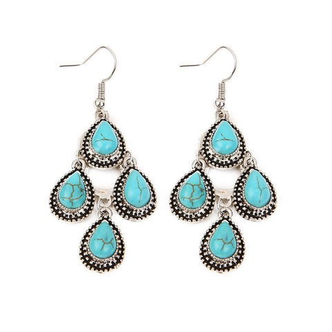 Turquoise-Earrings-4-Teardrop-Silver