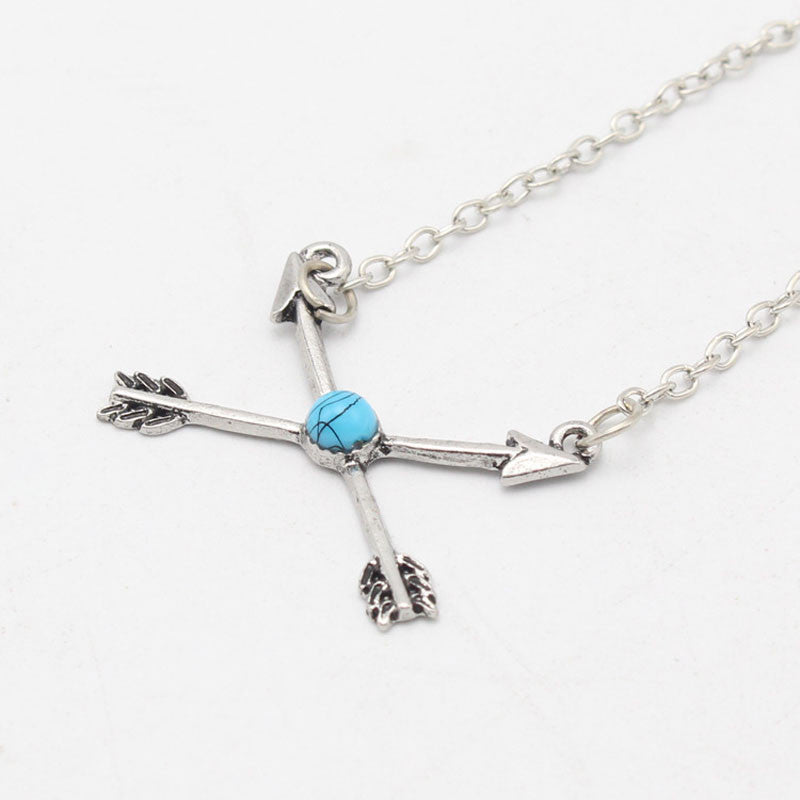 Follow The Arrow Cross Necklace